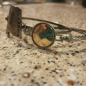 Silver tone bracelets. Alabama jewelry